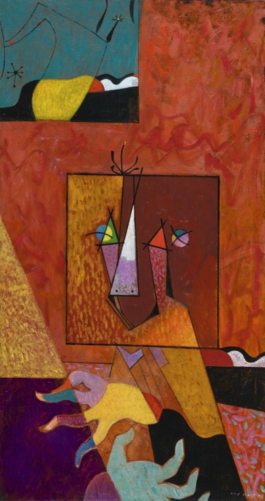 Max Ernst Portrait Of Joan Miro, Canvas, Max Ernst, kanvas tablo, canvas print sales