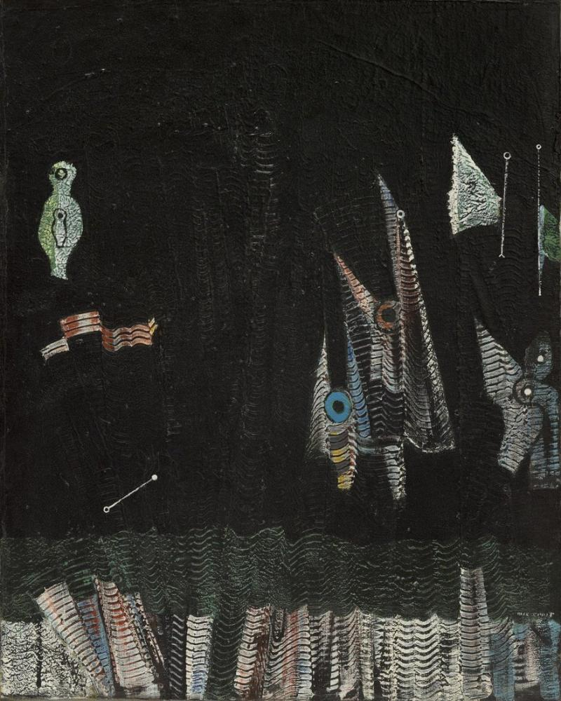 Max Ernst Birds Above The Forest, Figure, Max Ernst, kanvas tablo, canvas print sales