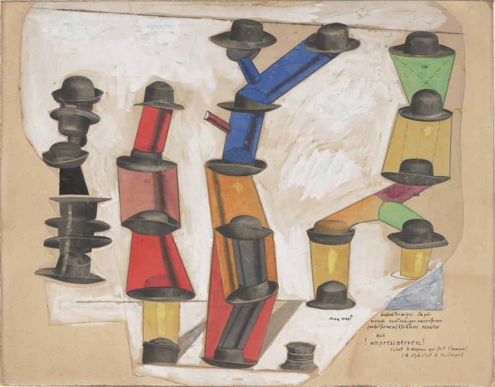 Max Ernst Şapka Adam Yapar, Kanvas Tablo, Max Ernst, kanvas tablo, canvas print sales