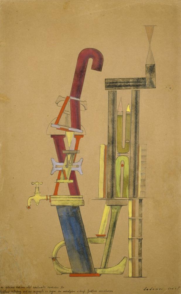 Max Ernst Minimax Dadamax Şahsen Yaptığı Küçük Makine, Kanvas Tablo, Max Ernst, kanvas tablo, canvas print sales