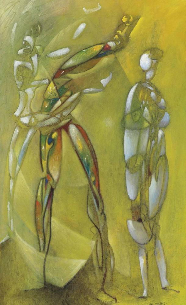 Max Ernst Yıldızlı Gökyüzü Altında Dansçılar, Figür, Max Ernst, kanvas tablo, canvas print sales