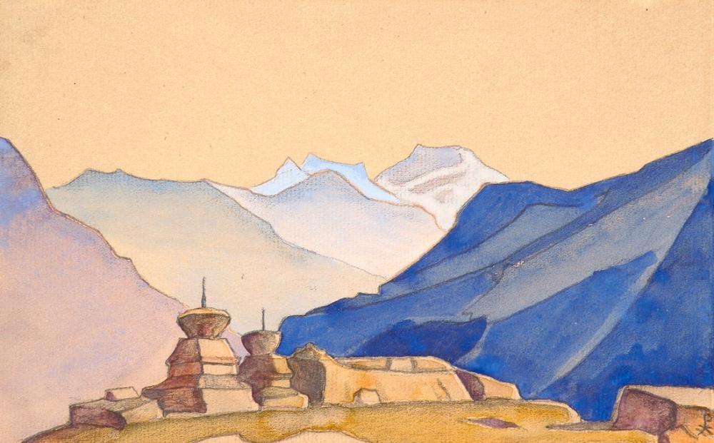 Nicholas Roerich, Plungės, Su Değirmeni, Kanvas Tablo, Nicholas Roerich, kanvas tablo, canvas print sales
