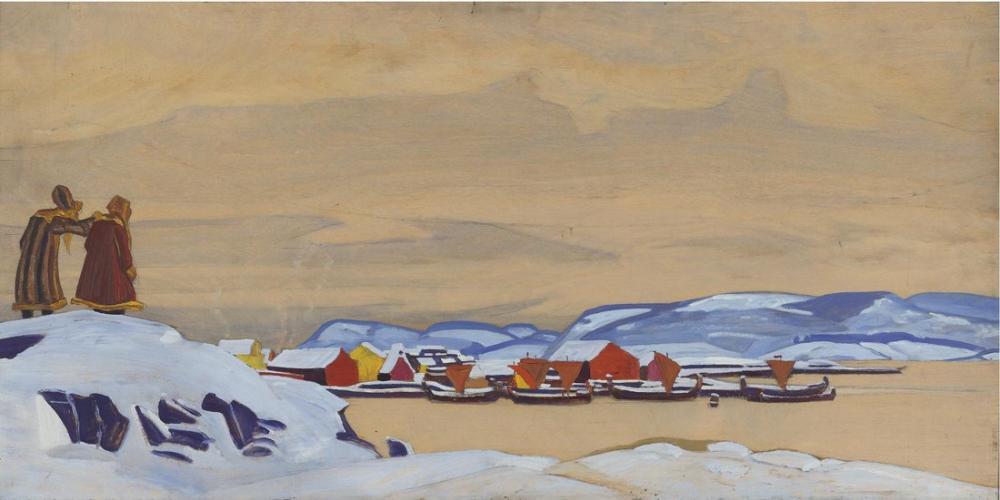 Nicholas Roerich, Henüz Gitmedi, Kanvas Tablo, Nicholas Roerich, kanvas tablo, canvas print sales