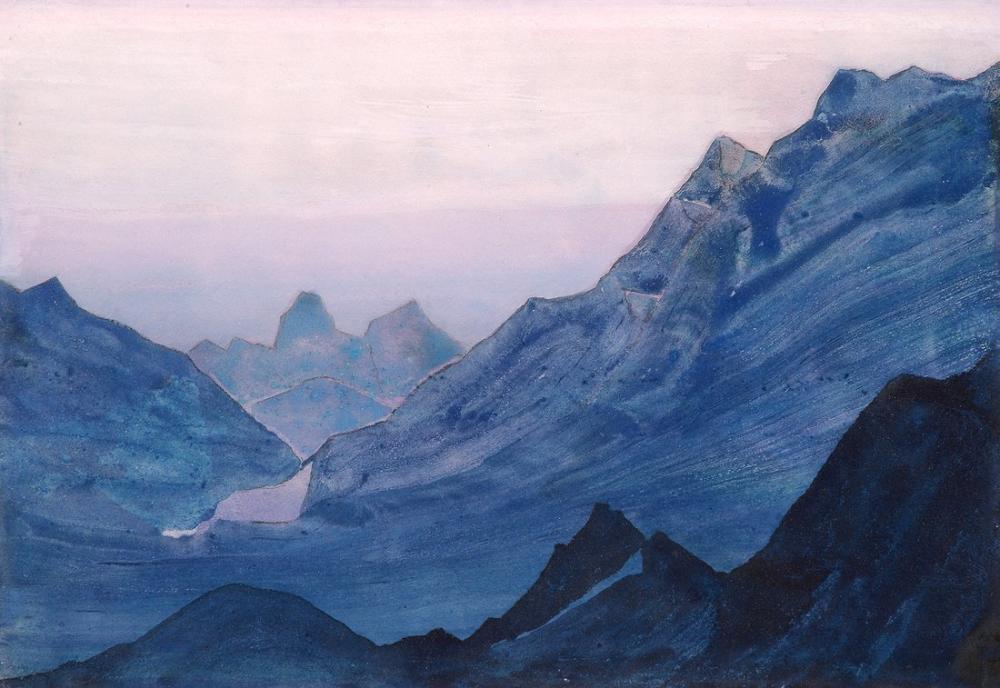 Nicholas Roerich, Himalayalar Çalışması, Kanvas Tablo, Nicholas Roerich, kanvas tablo, canvas print sales