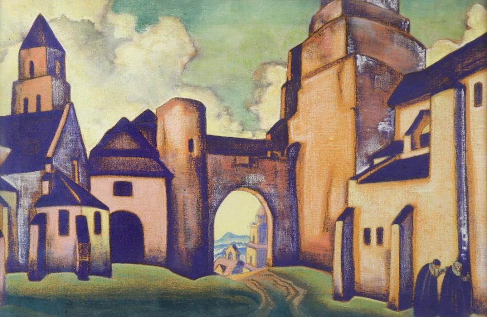 Nicholas Roerich, Surların Sırları Şehri, Kanvas Tablo, Nicholas Roerich, kanvas tablo, canvas print sales