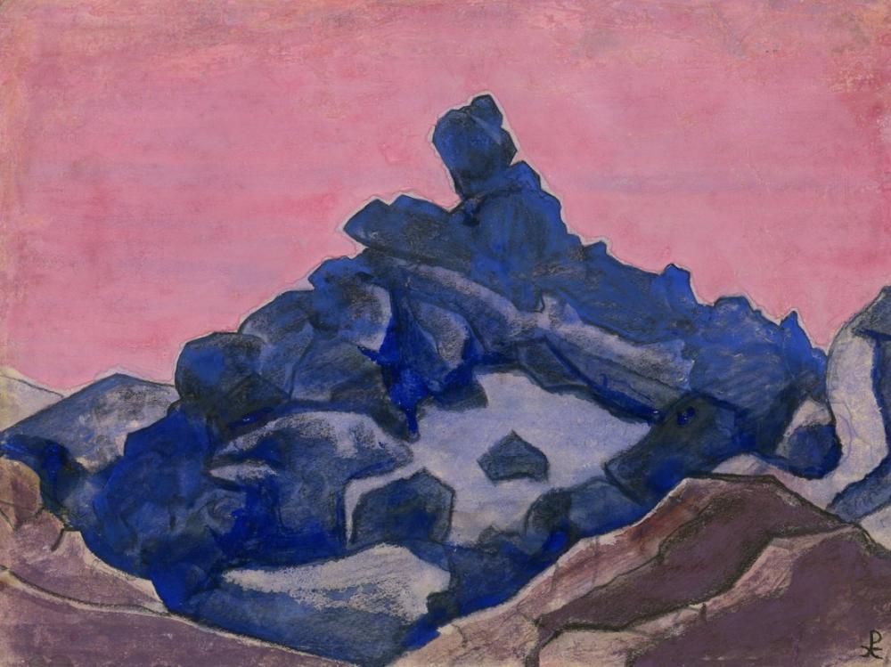Nicholas Roerich, Mavi Uçurum, Kanvas Tablo, Nicholas Roerich, kanvas tablo, canvas print sales
