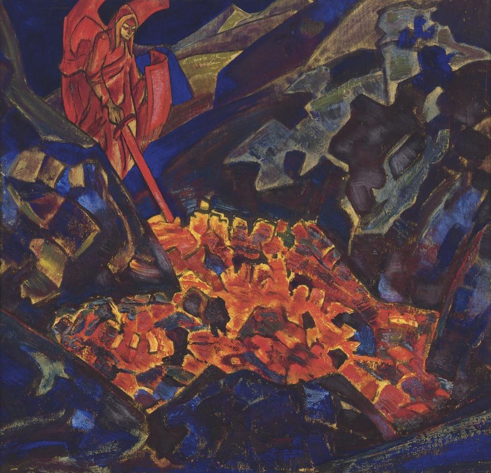 Nicholas Roerich, Dünyanın Sıcaklığı, Figür, Nicholas Roerich, kanvas tablo, canvas print sales