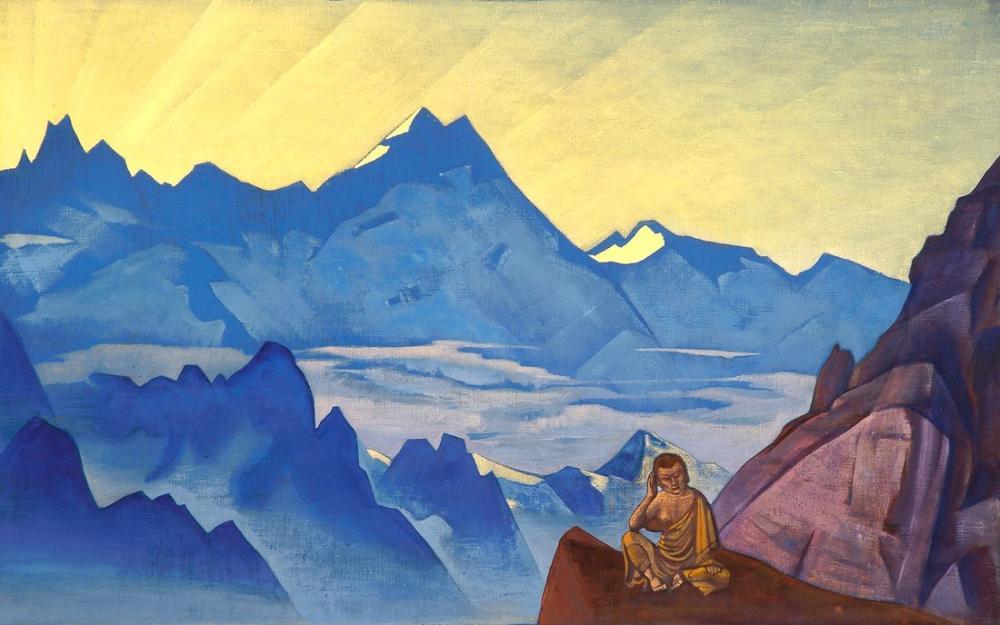 Nicholas Roerich, Milarepa, the One Who Harkened, Canvas, Nicholas Roerich, kanvas tablo, canvas print sales