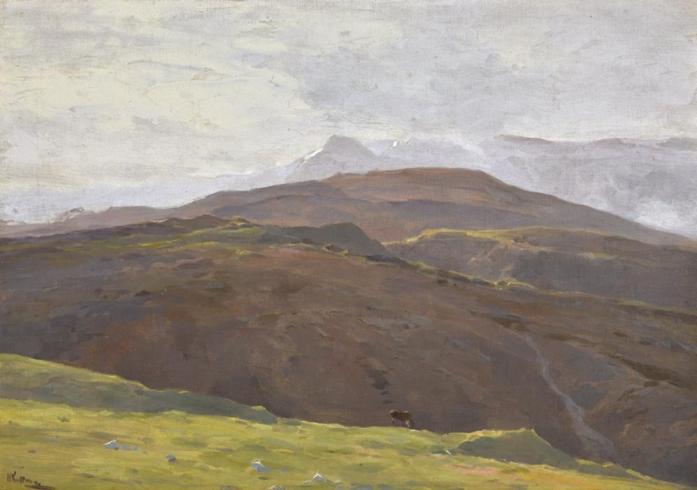 Nicholas Roerich, Klodt, na Mist in the Caucas, Canvas, Nicholas Roerich, kanvas tablo, canvas print sales
