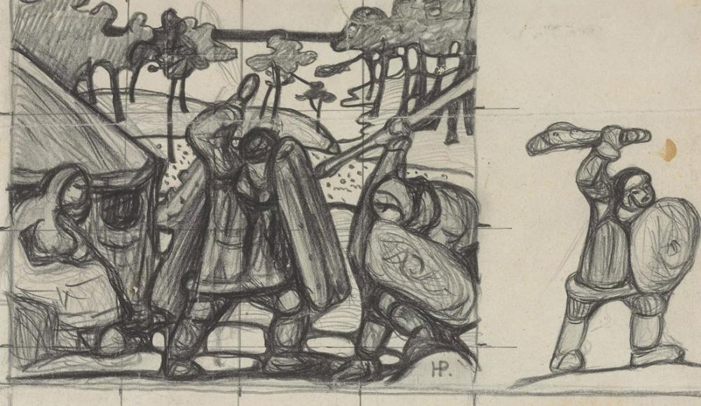 Nicholas Roerich, Bounda İçin Tudy II, Figür, Nicholas Roerich, kanvas tablo, canvas print sales