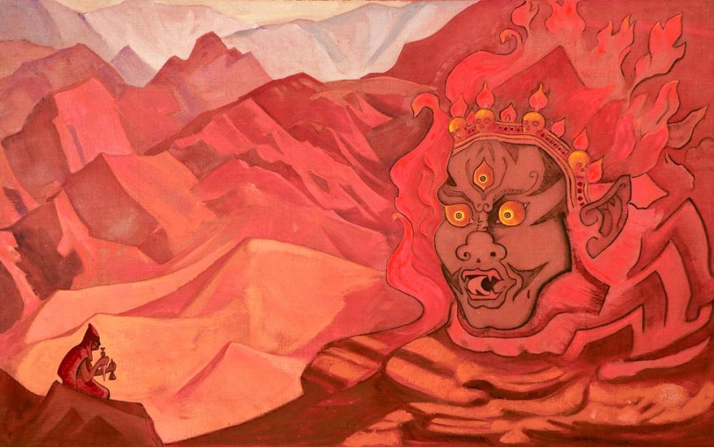 Nicholas Roerich, Cesur Bir Dorje, Figür, Nicholas Roerich, kanvas tablo, canvas print sales