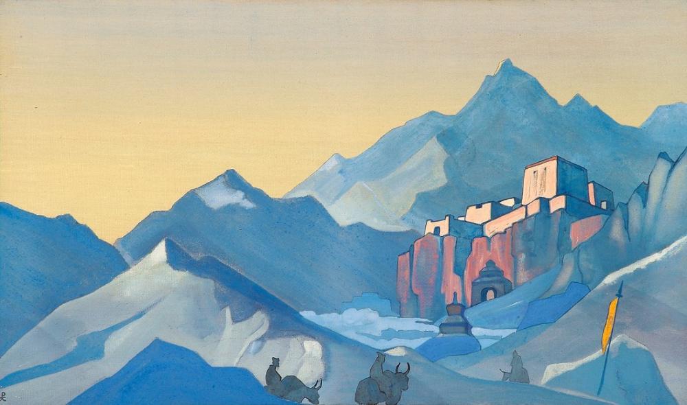 Nicholas Roerich, Kailas Manastırı Yolu, Kanvas Tablo, Nicholas Roerich, kanvas tablo, canvas print sales