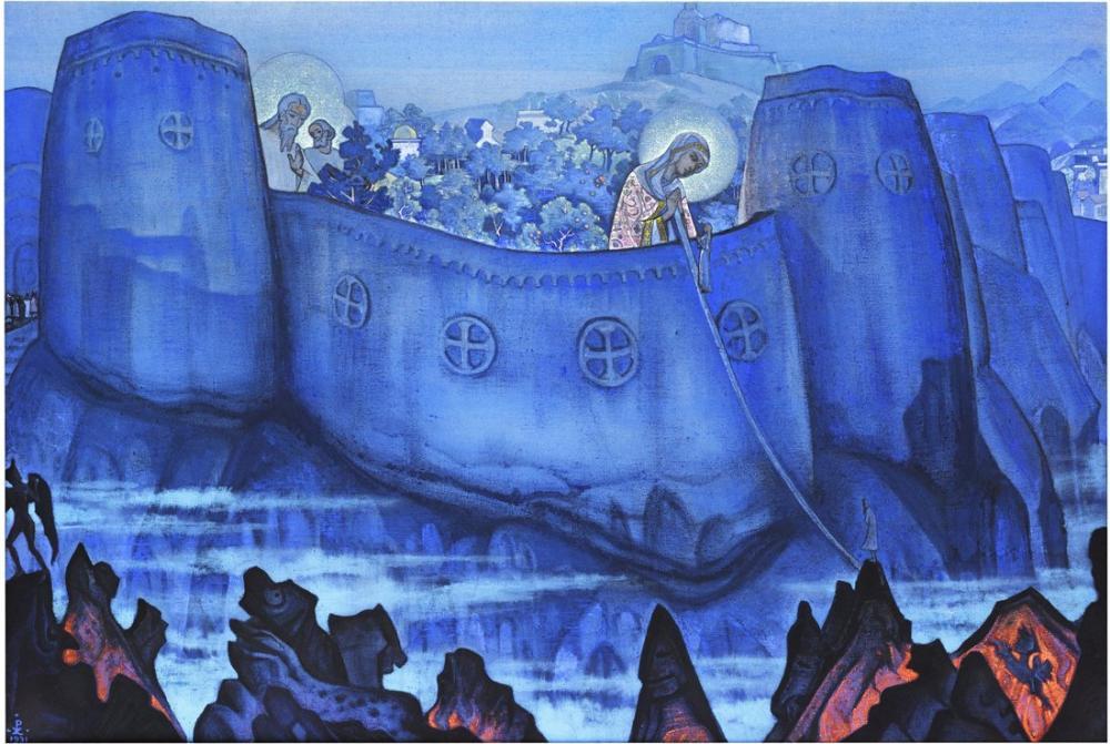 Nicholas Roerich, Bakire Bildirileri, Madonna Laboris, Kanvas Tablo, Nicholas Roerich, kanvas tablo, canvas print sales