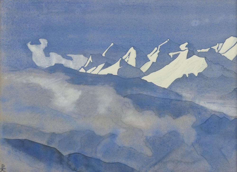 Nicholas Roerich, Himalayalar, Kanvas Tablo, Nicholas Roerich, kanvas tablo, canvas print sales