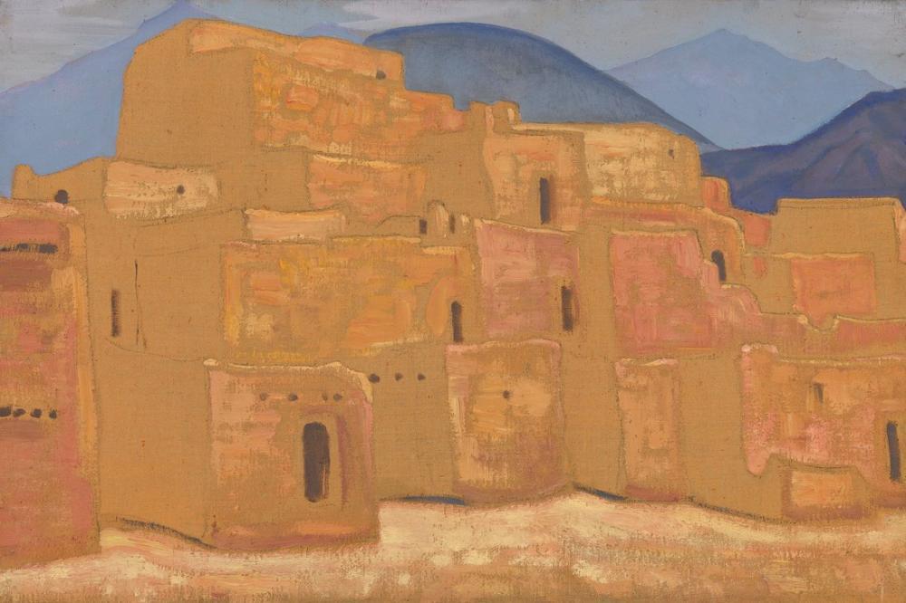 Nicholas Roerich, Taos Pueblo, New Mexico, Kanvas Tablo, Nicholas Roerich, kanvas tablo, canvas print sales