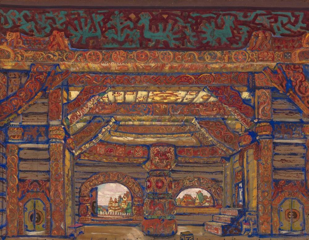 Nicholas Roerich, Snegurochka, Figure, Nicholas Roerich, kanvas tablo, canvas print sales