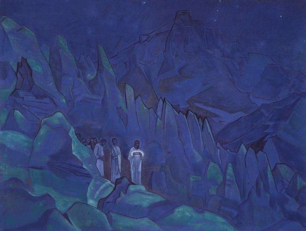 Nicholas Roerich, Burning the Darkness, Canvas, Nicholas Roerich, kanvas tablo, canvas print sales