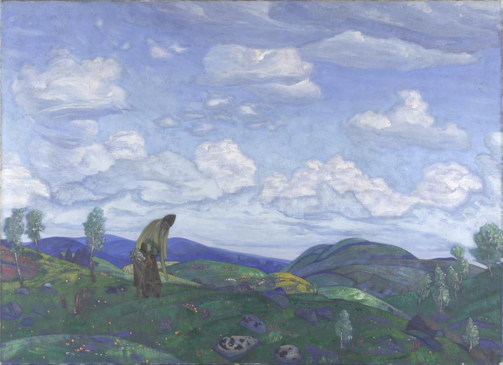 Nicholas Roerich, Şifacı Panteleimon, Figür, Nicholas Roerich, kanvas tablo, canvas print sales