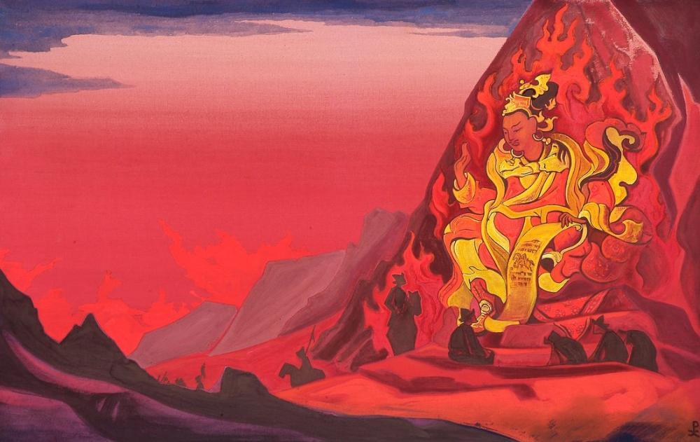 Nicholas Roerich, Rigden Djapo Komutanlığı, Figür, Nicholas Roerich, kanvas tablo, canvas print sales