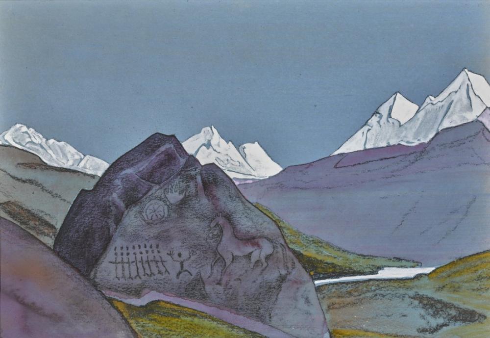 Nicholas Roerich, At, Figür, Nicholas Roerich, kanvas tablo, canvas print sales