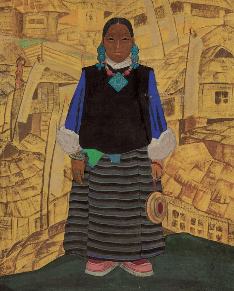 Nicholas Roerich, Tibet Kadını, Kanvas Tablo, Nicholas Roerich, kanvas tablo, canvas print sales