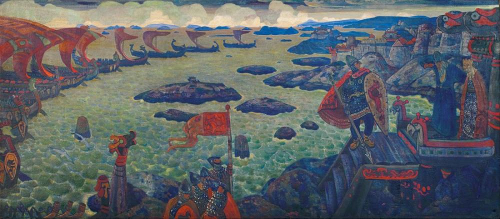 Nicholas Roerich, Ready for the Campaign, Canvas, Nicholas Roerich, kanvas tablo, canvas print sales