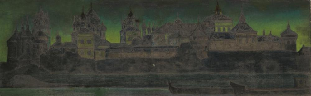 Nicholas Roerich, Rostov Kremlin, Kanvas Tablo, Nicholas Roerich, kanvas tablo, canvas print sales