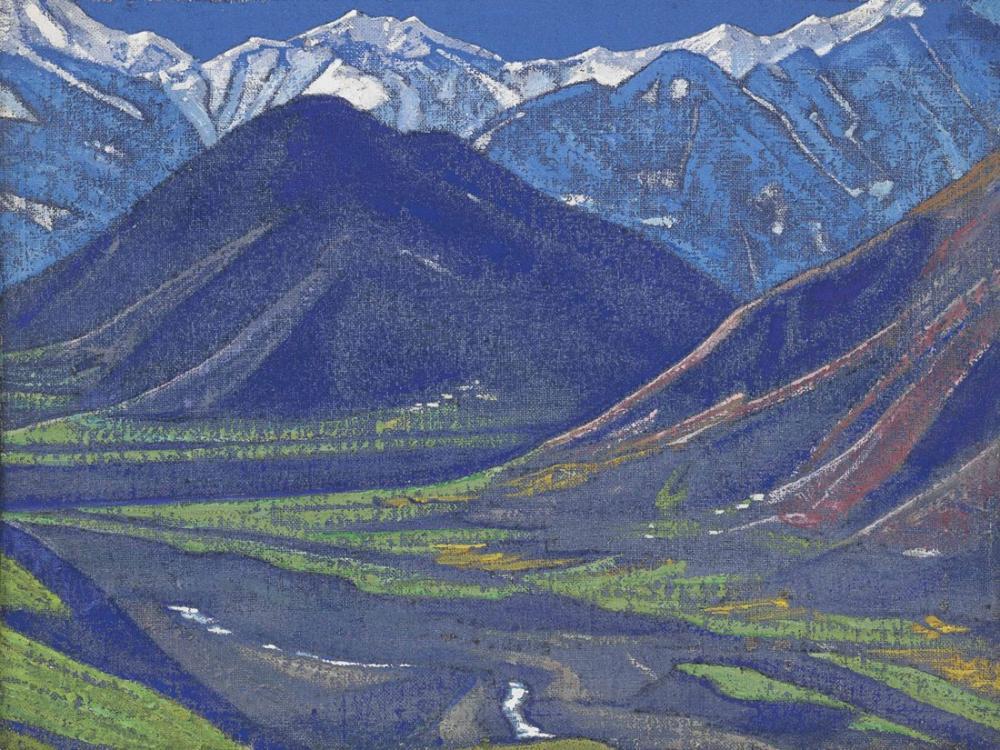 Nicholas Roerich, Kulu Serisinden Kulu da Bahar, Kanvas Tablo, Nicholas Roerich, kanvas tablo, canvas print sales