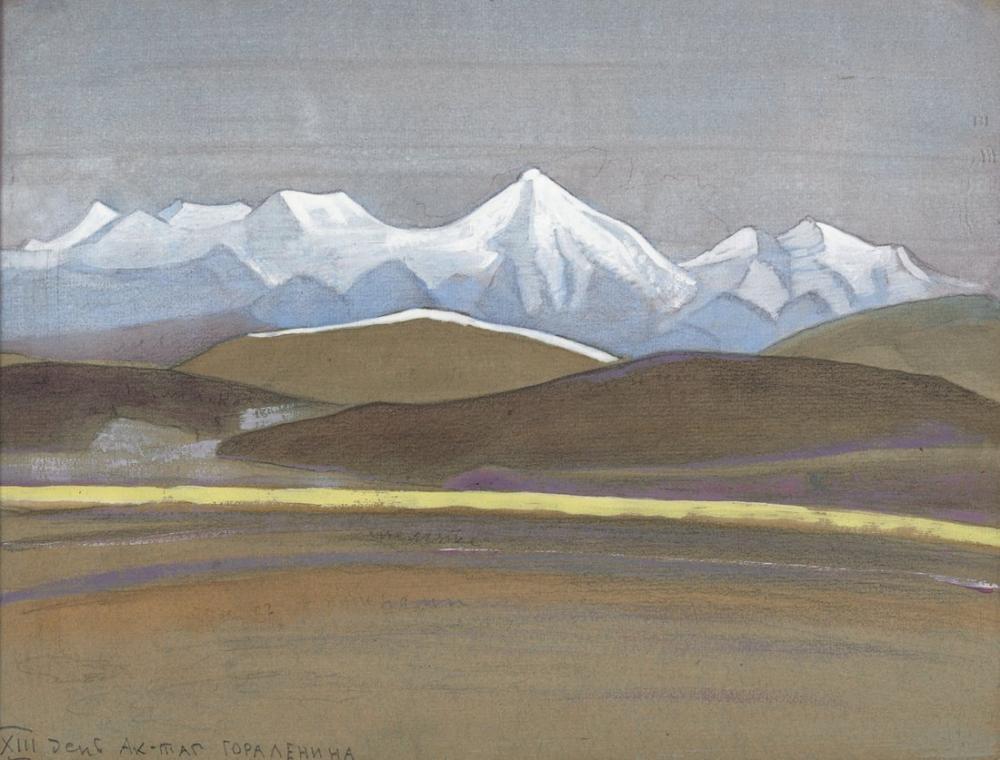 Nicholas Roerich, XIII Günü, Ak Tagh, Kanvas Tablo, Nicholas Roerich, kanvas tablo, canvas print sales