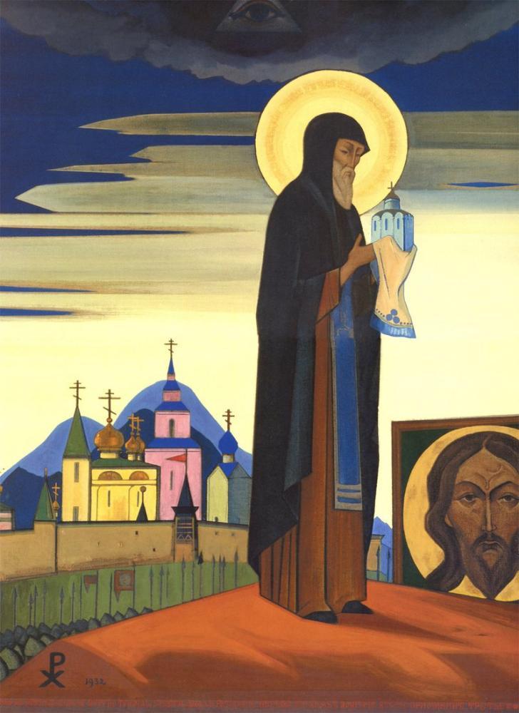 Nicholas Roerich, Saint Sergius, Kanvas Tablo, Nicholas Roerich, kanvas tablo, canvas print sales