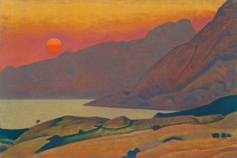 Nicholas Roerich, Monhegan, Maine, Kanvas Tablo, Nicholas Roerich, kanvas tablo, canvas print sales