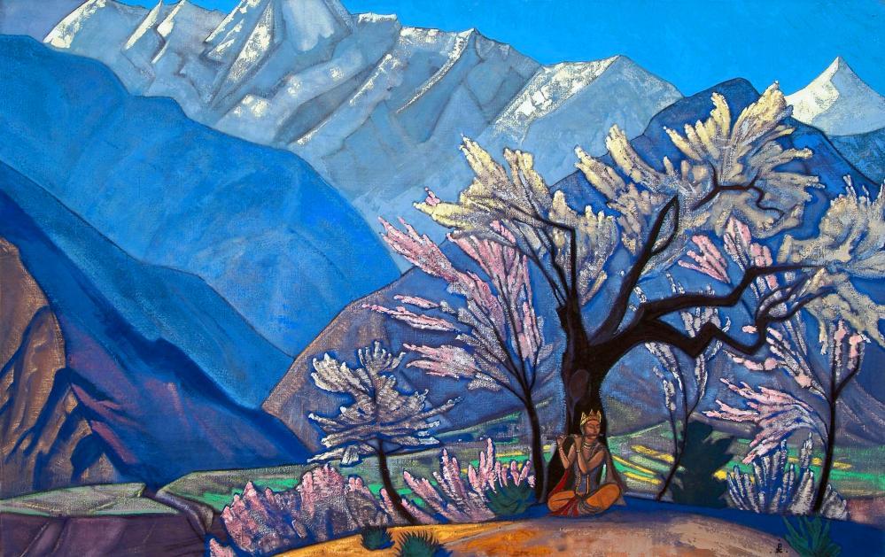 Nicholas Roerich, Kullu da Krishna Baharı, Kanvas Tablo, Nicholas Roerich, kanvas tablo, canvas print sales