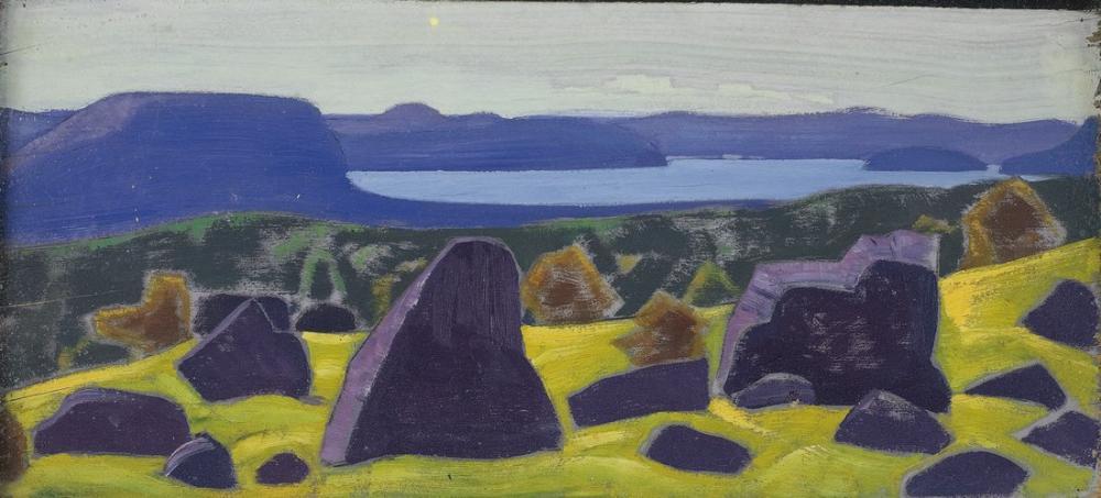 Nicholas Roerich, Ladoga Serisinden Çalışma, Kanvas Tablo, Nicholas Roerich, kanvas tablo, canvas print sales