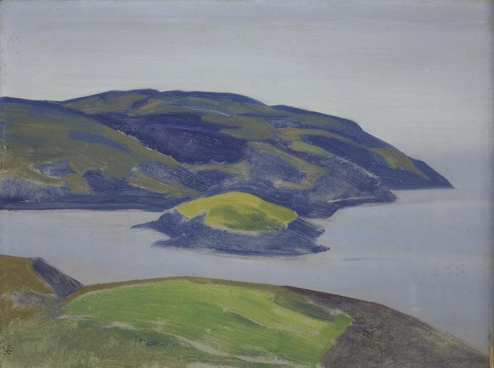 Nicholas Roerich, Bir Kıyı Çalışması, Kanvas Tablo, Nicholas Roerich, kanvas tablo, canvas print sales