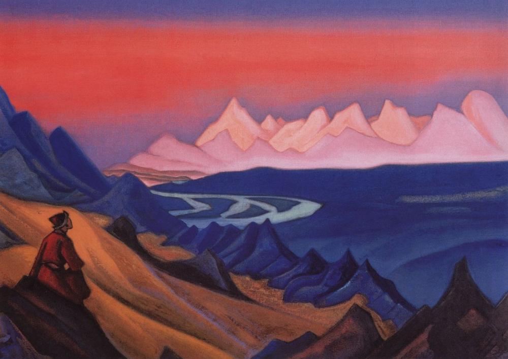 Nicholas Roerich, Song of Shamballa, Figure, Nicholas Roerich, kanvas tablo, canvas print sales