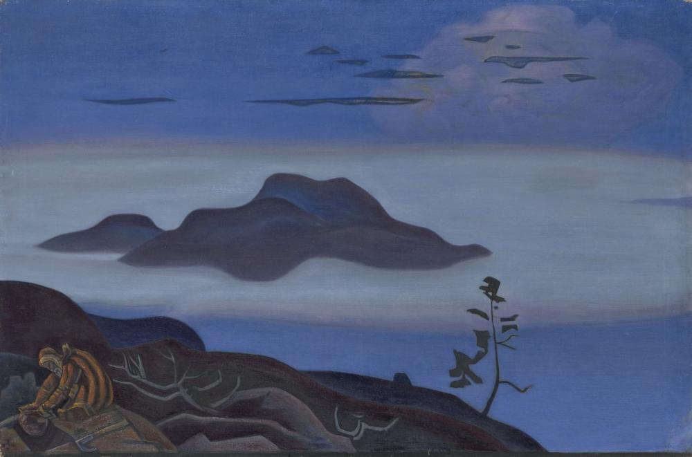 Nicholas Roerich, Göl Kenarında Ağaçlar, Kanvas Tablo, Nicholas Roerich, kanvas tablo, canvas print sales