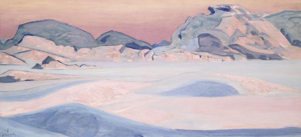 Nicholas Roerich, Mountains Landscpe, Canvas, Nicholas Roerich, kanvas tablo, canvas print sales