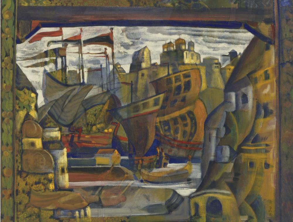 Nicholas Roerich, Sadko dan Novgorod Pazarı, Kanvas Tablo, Nicholas Roerich, kanvas tablo, canvas print sales