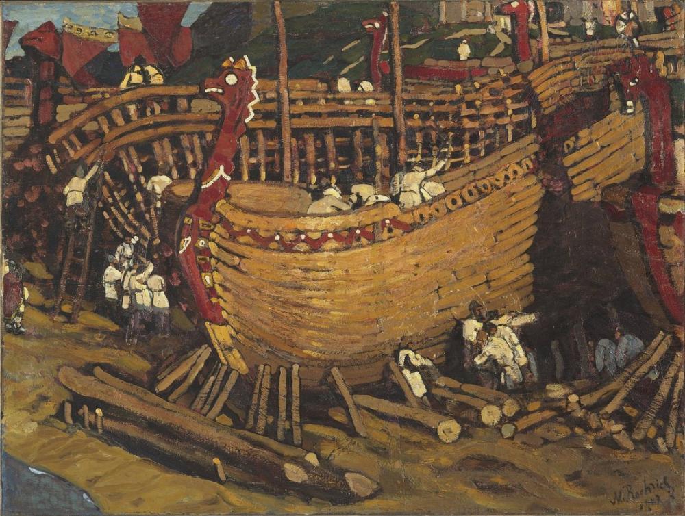 Nicholas Roerich, Gemileri İnşa Etmek, Kanvas Tablo, Nicholas Roerich, kanvas tablo, canvas print sales