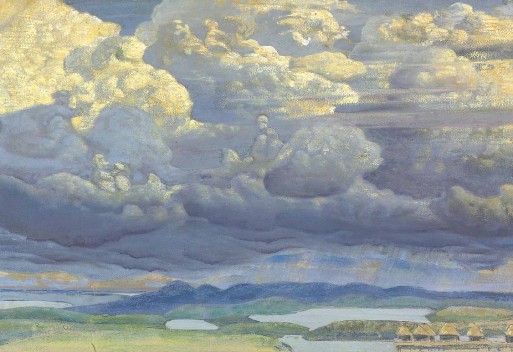 Nicholas Roerich, Battle in the Heavens, Canvas, Nicholas Roerich, kanvas tablo, canvas print sales