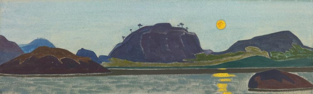 Nicholas Roerich, Nehir Üzerinde Ay, Kanvas Tablo, Nicholas Roerich, kanvas tablo, canvas print sales
