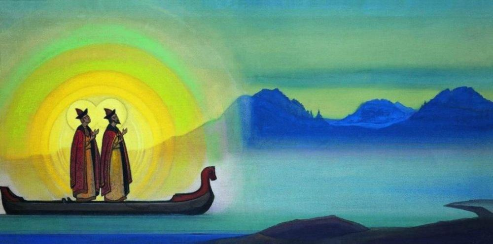 Nicholas Roerich, Boris and Gleb, Canvas, Nicholas Roerich, kanvas tablo, canvas print sales