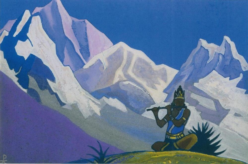 Nicholas Roerich, Krishna Magic Flute, Canvas, Nicholas Roerich, kanvas tablo, canvas print sales