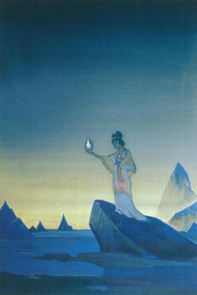 Nicholas Roerich, Agni Yoga Diptych, Canvas, Nicholas Roerich, kanvas tablo, canvas print sales