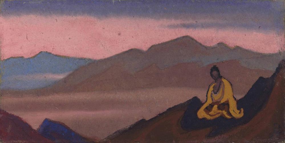 Nicholas Roerich, Buddha, Figure, Nicholas Roerich, kanvas tablo, canvas print sales