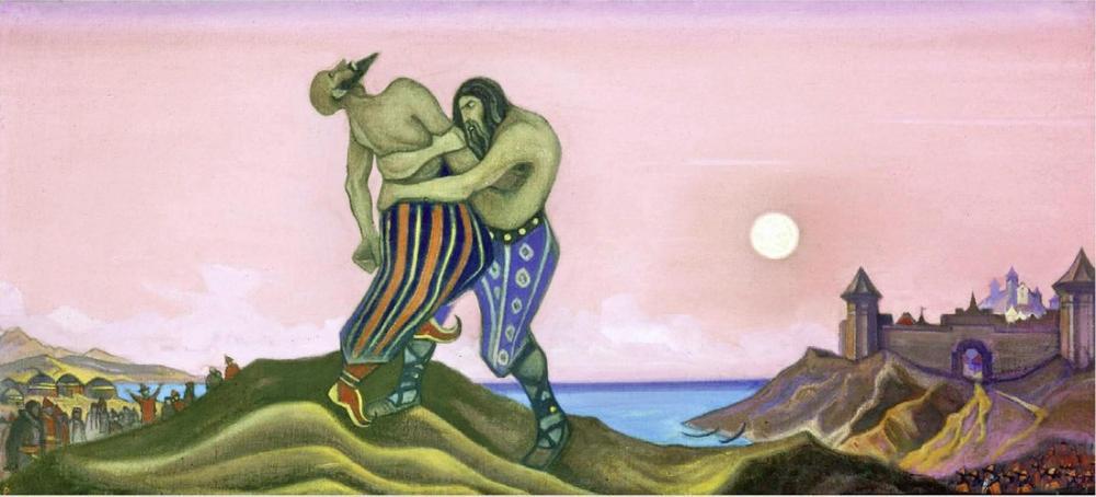 Nicholas Roerich, Mstislav and Rededia, Canvas, Nicholas Roerich, kanvas tablo, canvas print sales