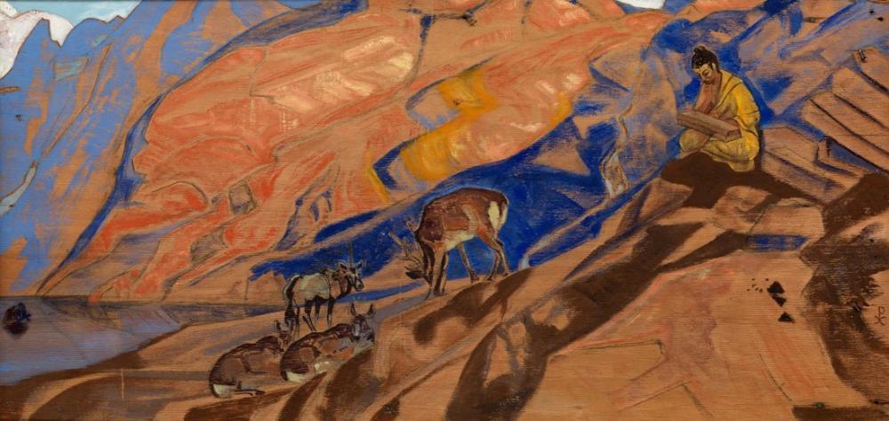 Nicholas Roerich, Commands of the Teacher, Canvas, Nicholas Roerich, kanvas tablo, canvas print sales