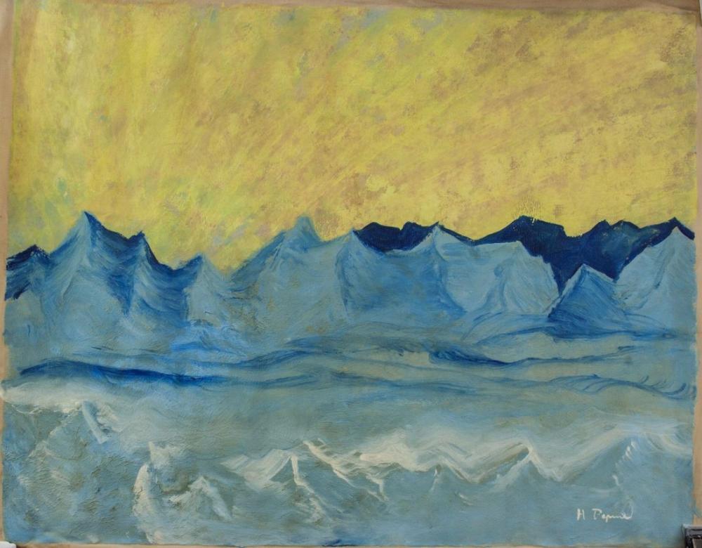 Nicholas Roerich, Sıradağlar ve Tepeler, Kanvas Tablo, Nicholas Roerich, kanvas tablo, canvas print sales