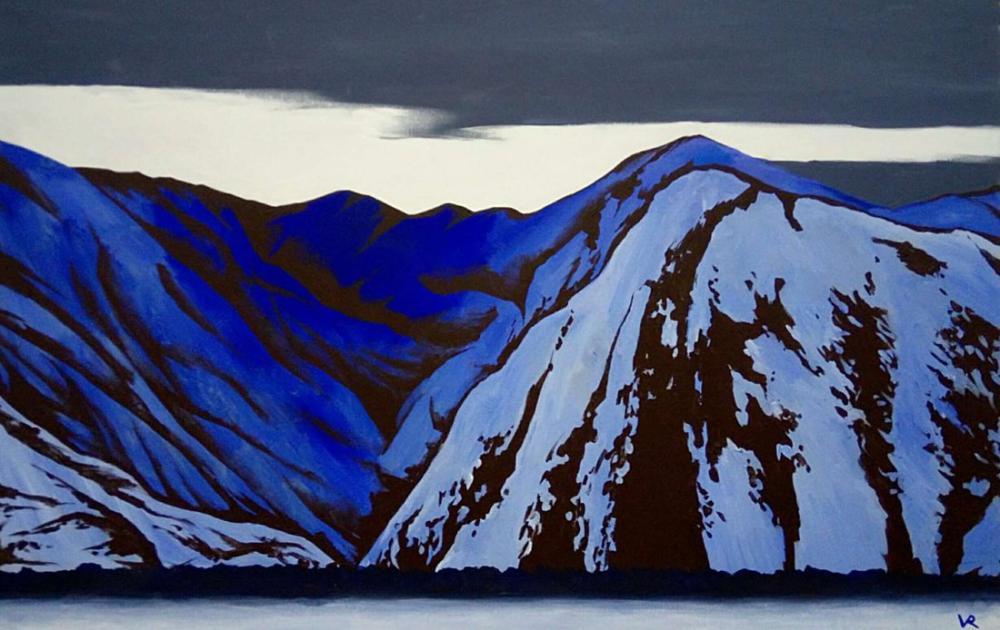 Nicholas Roerich, Blue Mountains, Canvas, Nicholas Roerich, kanvas tablo, canvas print sales