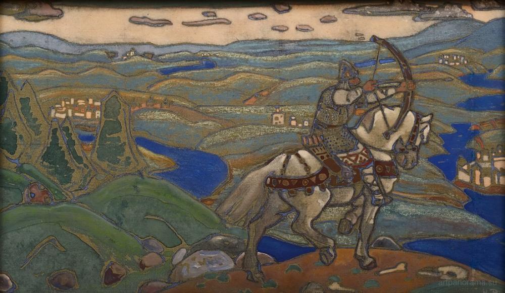 Nicholas Roerich, Ilya Muromets, Canvas, Nicholas Roerich, kanvas tablo, canvas print sales